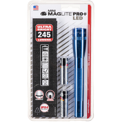 Maglite Mini Maglite Pro+ 2AA LED Flashlight with Holster (Blue)