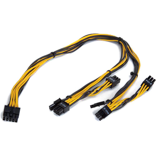Magma ExpressBox PCB 10-Pin to 2 x 6-Pin & 2 x 6/8-Pin Auxiliary Power Cable