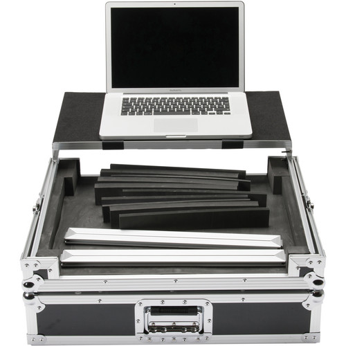 Magma Bags Multi-Format Workstation Universal DJ Controller Flight Case (XL, Black/Silver)