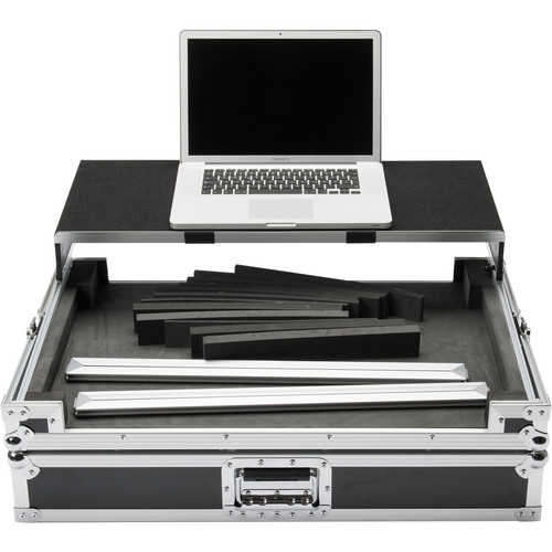 Magma Bags Multi-Format Workstation Universal DJ Controller Flight Case (XXL, Black/Silver)