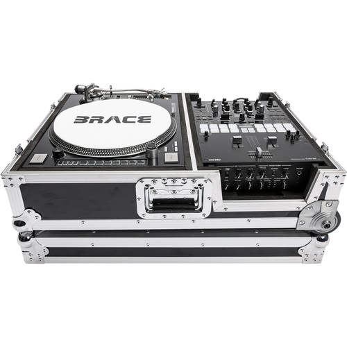 """Magma Bags Scratch Suitcase Heavy-Duty Road Case for Turntable and 10"""" Battle Mixer"""
