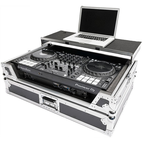 Magma Bags Multi-Format Workstation XXL Plus 19 Road Case with 1 RU Space for DJ Controller and Rack Gear