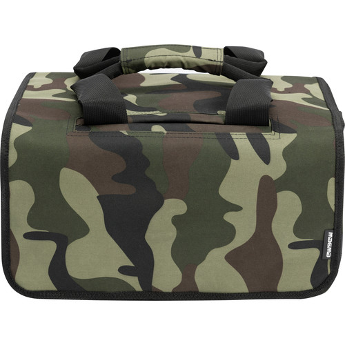 Magma Bags 45 Record Bag for up to 150 Records (Camo-Green/Red)