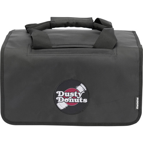 Magma Bags 45 Dusty Donut Record Bag for Up to 150 Records (Black/Bordeaux)