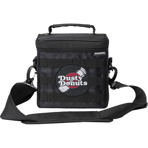 """Magma Bags 45 Record-Bag 50 Travel Bag for up to 50 7"""" Records (Black/Red, Dusty Donuts Edition)"""