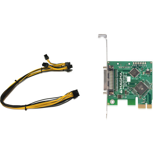 Magma 7-Slot 32-bit 33 MHz PCI Expansion Board-Set (x1 PCIe Card, 3.3' Cable)