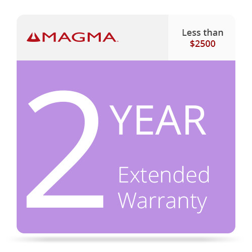 Magma 2 Year Extended Warranty for Magma Expansion Systems (Less than $2500)