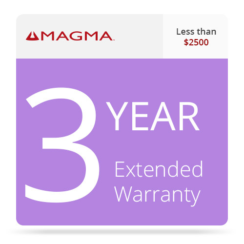 Magma 3 Year Extended Warranty for Magma Expansion Systems (Less than $2500)