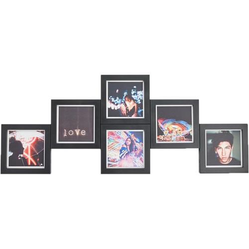 magnaframe 4x4 Square Frames (6-Pack, Black)