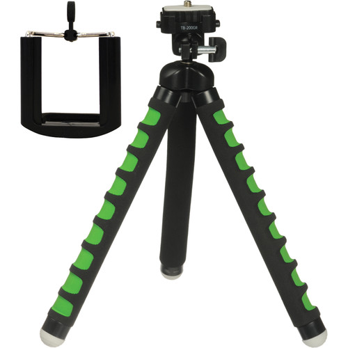 Magnus Bendable Tabletop Tripod with Smartphone Mount (Green)