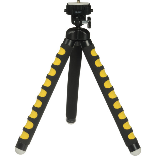 Magnus Bendable Tabletop Tripod with Smartphone Mount (Yellow)