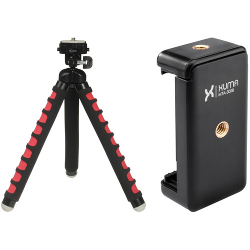 Magnus Bendable Tabletop Tripod with Smartphone Mount (Red)