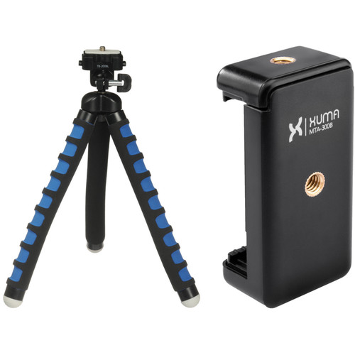 Magnus Bendable Tabletop Tripod with Smartphone Mount (Blue)