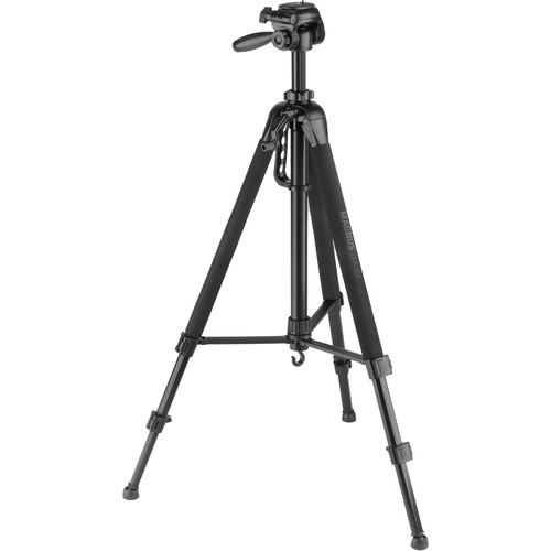 Magnus DLX-367 3-Section Photo/Video Tripod with Pan Head, Smartphone Adapter, and GoPro Mount