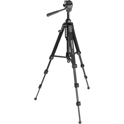 Magnus DX-3430 Deluxe Photo Tripod with 3-Way Pan-and-Tilt Head