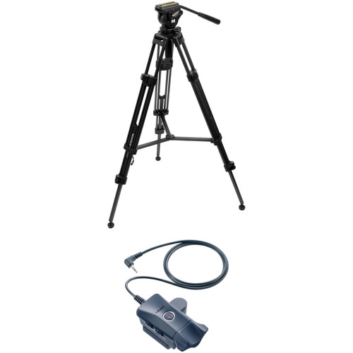 Magnus VT-4000 and Fluid Head Tripod System Kit with Libec ZC-LP Zoom Control