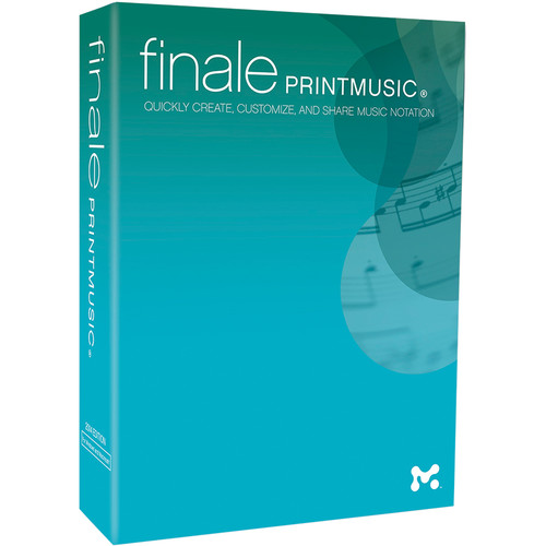 MakeMusic Finale PrintMusic - Notation and Composition Software (Educational 5-User Lab Pack - Download)