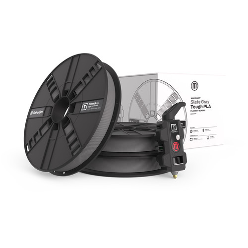 MakerBot Tough PLA Filament Bundle for the Replicator Z18 3D Printer (Slate Gray)