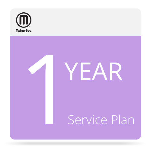 MakerBot 1-Year MakerCare Service Plan for MakerBot Replicator 2 Desktop 3D Printer