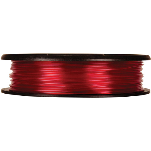 MakerBot 1.75mm PLA Filament (Small Spool, 0.5 lb, Translucent Red)
