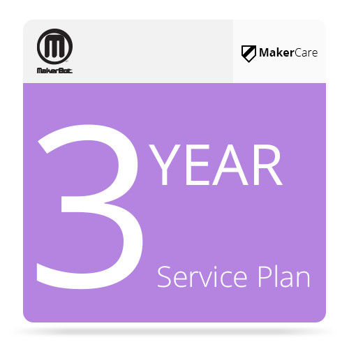 MakerBot 3-Year MakerCare Service Plan for MakerBot Replicator Desktop 3D Printer (5th Generation)