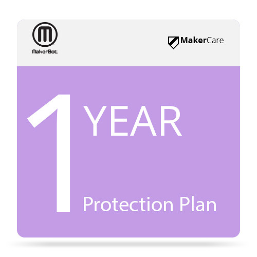 MakerBot MakerCare Protection Plan for the Replicator+ 3D Printer (1-Year Renewal)