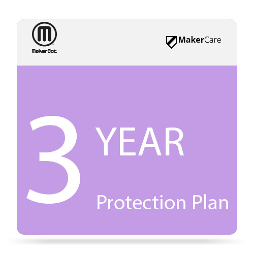 MakerBot 3 Year Makercare Preferred Protection Plan for Makerbot Replicator