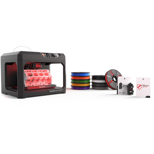 MakerBot Replicator+ Essentials Pack with 3-Year MakerCare Preferred Protection Plan