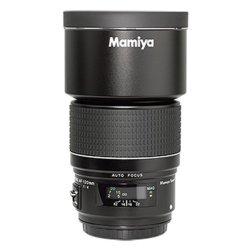 Mamiya 120mm f/4.0 AF Macro SEKOR Lens with Hood