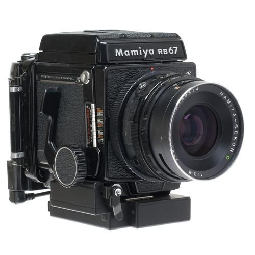Mamiya RB67 Pro S Medium Format SLR Camera 90mm F/3.8 Lens 120/220 Power Film Back and Folding Waist Level Finder
