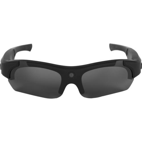 POV Action Video Cameras 480p Video Recording Sunglasses (Matte Black)