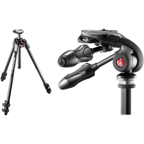 Manfrotto MT190CXPRO3 Carbon Fiber Tripod Kit with MH293D3-Q2 3-Way Photo Head and Q2 Quick Release System