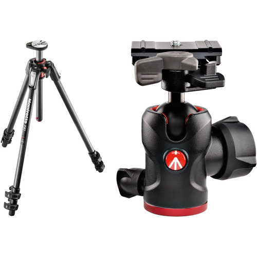 Manfrotto MT190CXPRO3 Carbon Fiber Tripod Kit with 494 Mini Ball Head and RC2 Quick Release System