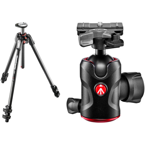 Manfrotto MT190CXPRO3 Carbon Fiber Tripod with 496RC2 Compact Ball Head Kit