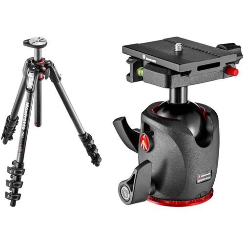 Manfrotto MT190CXPRO4 Carbon Fiber Tripod w/ XPRO Ball Head w/ Top Lock Quick Release System