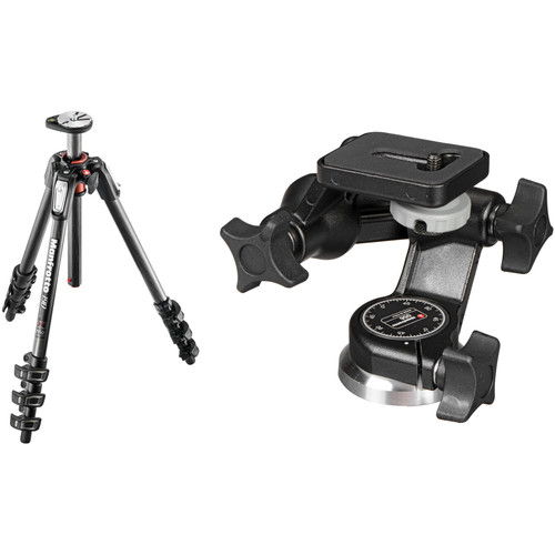 Manfrotto MT190CXPRO4 Carbon Fiber Tripod Kit with 056 3D Junior Head