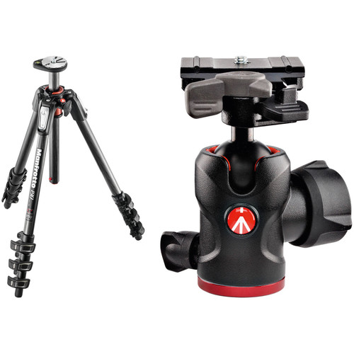 Manfrotto MT190CXPRO4 Carbon Fiber Tripod Kit with 494 Mini Ball Head and RC2 Quick Release System