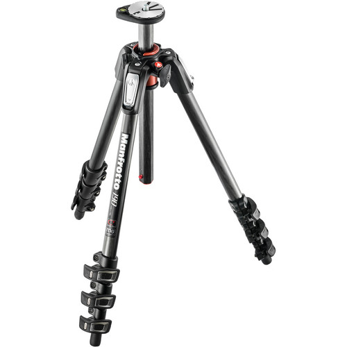 Manfrotto MT190CXPRO4 Carbon Fiber Tripod with 410 Junior Geared Head Kit