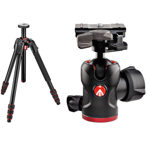 Manfrotto 190go! Aluminum Tripod and 494 Ball Head Kit with 200PL-PRO Quick Release Plate