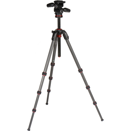 Manfrotto 190Go! Carbon Fiber Tripod Kit with 3-Way Head