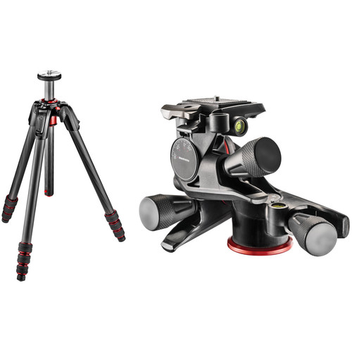 Manfrotto 190go! Carbon Fiber Tripod with XPRO Geared 3-Way Pan/Tilt Head Kit