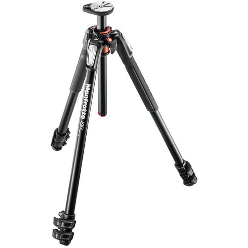 Manfrotto MT190XPRO3 Aluminum Tripod with 410 Junior Geared Head Kit