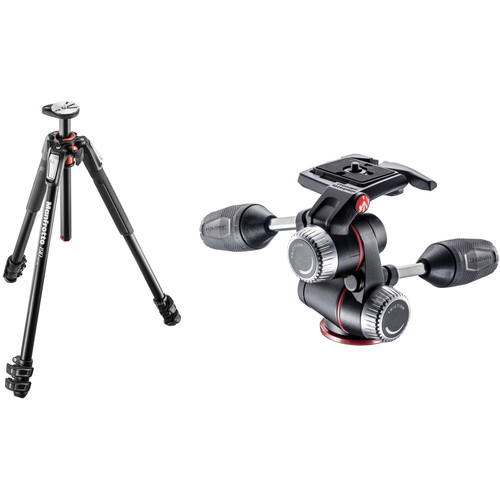 Manfrotto MT190XPRO3 Aluminum Tripod with MHXPRO-3W 3-Way Pan/Tilt Head Kit