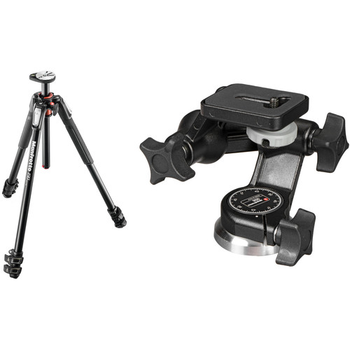 Manfrotto MT190XPRO3 Aluminum Tripod Kit with 056 3D Junior Head