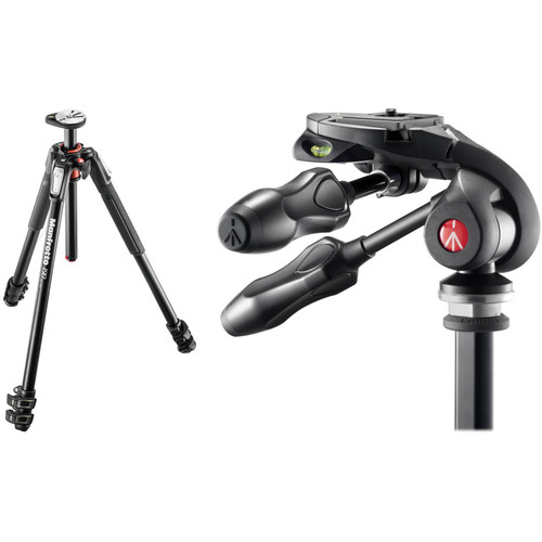 Manfrotto MT190XPRO3 Aluminum Tripod Kit with MH293D3-Q2 3-Way Photo Head
