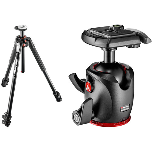 Manfrotto MT190XPRO3 Aluminum Tripod Kit with MHXPRO-BHQ2 XPRO Ball Head with 200PL Quick-Release System