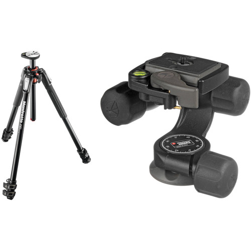 Manfrotto MT190XPRO3 Aluminum Tripod Kit with 460MG 3D Magnesium Head and RC2 Quick Release System