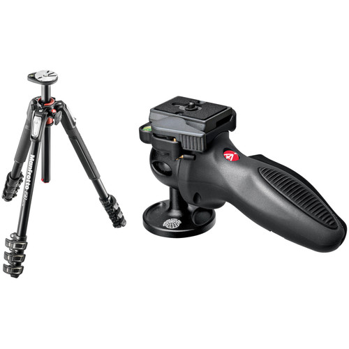 Manfrotto MT190XPRO4 Aluminum Tripod Kit with 324RC2 Joystick Head and Quick-Release System