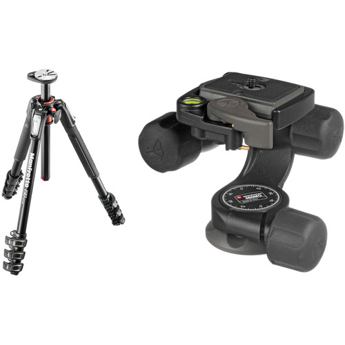 Manfrotto MT190XPRO4 Aluminum Tripod Kit with 460MG 3D Magnesium Head and RC2 Quick-Release System