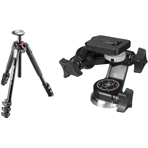 Manfrotto MT190XPRO4 Aluminum Tripod Kit with 056 3D Junior Head